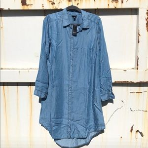 TORRID DENIM SHIRTDRESS W/ BUTTON FRONT SZ 00 NWT